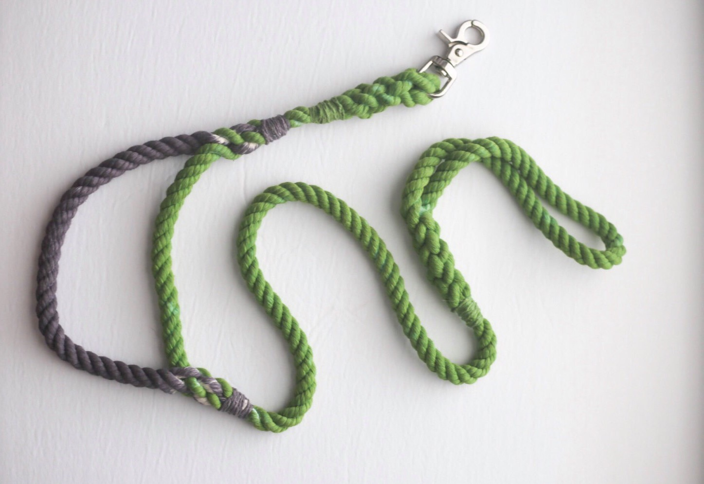 cotton rope dog leash by kai's ruff wear