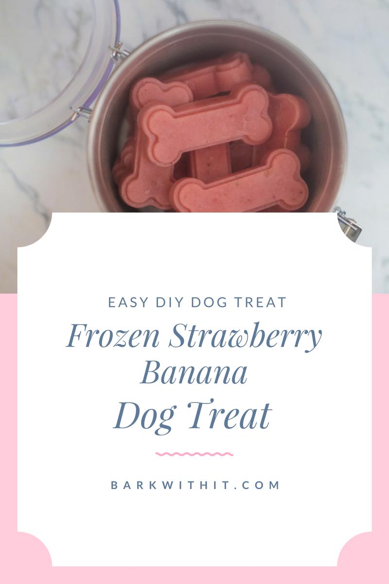 frozen strawberry banana dog treat