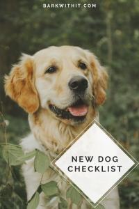 New Dog Checklist