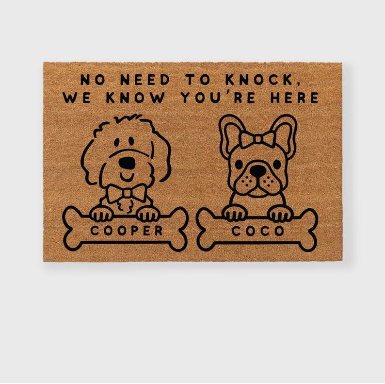 Custom Dog Doormat shopHomeMaven Dog Mom Gift Guide Holiday Gift guide for Dog Moms