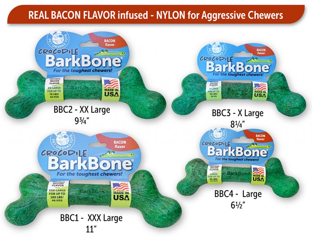 Dog Gift Guide PetQwerks BarkBone Bacon Dog Chew