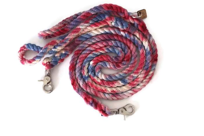 Custom Dog Leashes Gift Guide for Dogs Dog Gift Guide Kai's Ruff Wear Rope Dog Leash